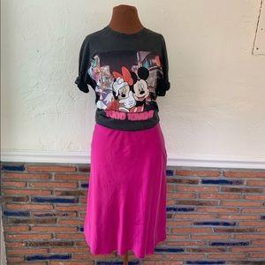Lauren Ralph Lauren fushia silk midi skirt